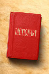 Old dictionary on paper background