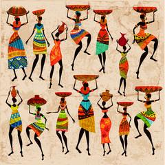 Wall Mural - Retro beautiful African women