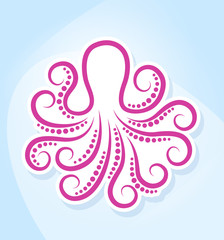 Stylized octopus.
