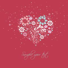 Hintergrund mit dem Herz, Valentinstag, rot