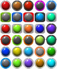 button glossy icon