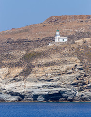 Spathi lighthouse in Serifos island, Cyclades, Greece