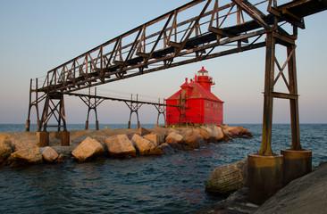 Sturgeon Bay Ship Canal Pierhead Lighthouse, Wisconsin, USA