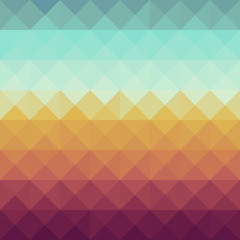 Photo sur Toile ZigZag Vintage hipsters geometric pattern.