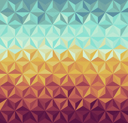 Photo sur Toile ZigZag Retro hipsters geometric pattern.