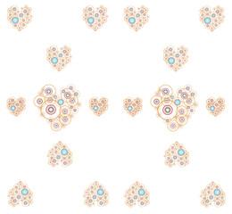 heart pattern on white background