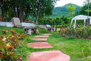 Stone Pathway walkway in a park or garden