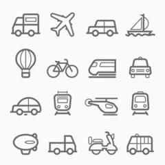 transportation symbol line icon