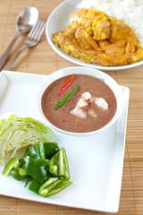 Thai chili sauce mix with shrimp paste