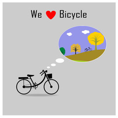 Bicycle save the earth