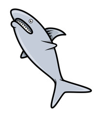 Shark - Vector Cartoon Illustration