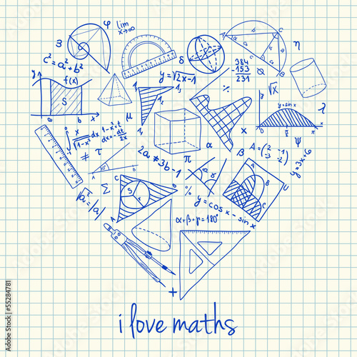Maths drawings in heart shape stock image and royalty free vector maths drawings in heart shape ccuart Image collections
