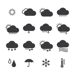 icon pack weather isolated background