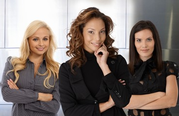 Team portrait of smiling businesswomen