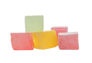 Turkish delight isolated