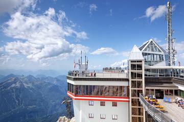 Aussichtsplattform und Sonnendeck auf der Zugspitze