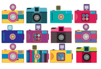 vintage colorful toys camera