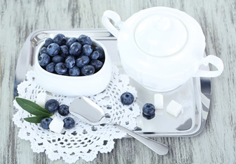 Blueberries in plate