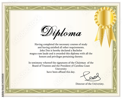 vintage frame certificate or diploma template ii stock image and