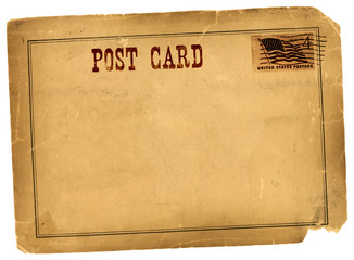 Antique Vintage Postcard Blank Space