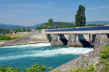 Fototapeten Damm barrage