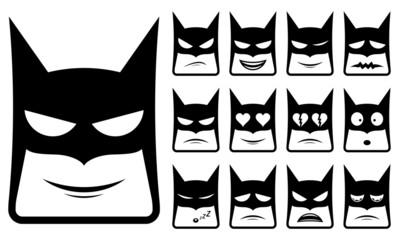 Batman smiley icons