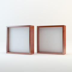 Two wood blank box display