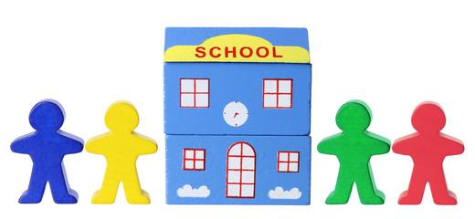 Miniature School and Figurines