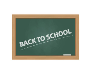 Chalkboard with back to school text