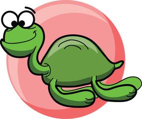 Мультфильм милый вектор море черепах