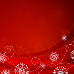 Vector Illustration of a Christmas Background with Snowflakes
