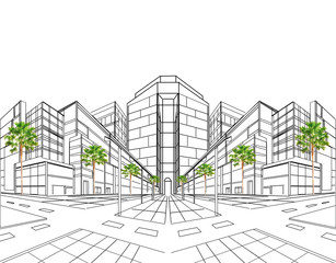 perspective drawing plan
