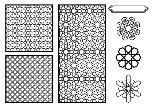 Traditional Middle Eastern / Islamic Patterns - Vector
