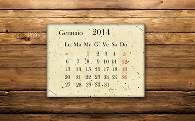 Calendario Gennaio 2014