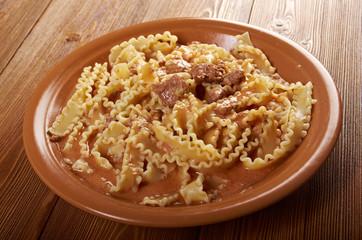 pasta mafalde with  beef