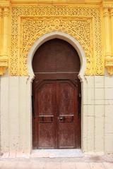 Arabic oriental styled door in Rabat, Morocco