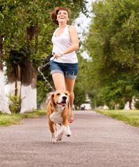 Active walk with pet
