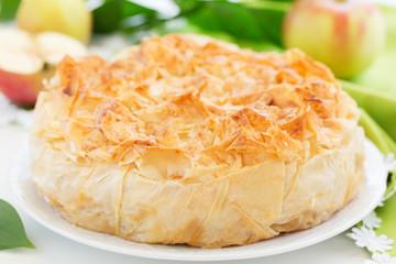 Apple pie of phyllo dough.