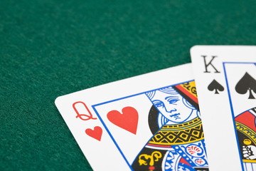 King and queen playing cards