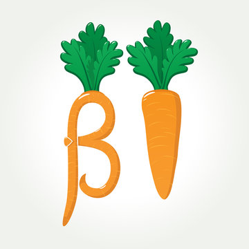 Beta-Carotene (provitamin A) healthy carrot