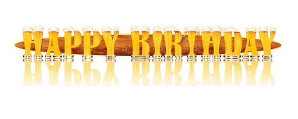 BEER ALPHABET letters HAPPY BIRTHDAY