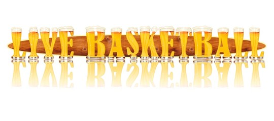 BEER ALPHABET letters LIVE BASKETBALL