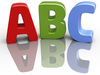 ABC font alphabet education letters