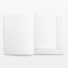 White empty open folder.
