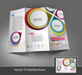 Tri-fold Interior Designers Front brochure design
