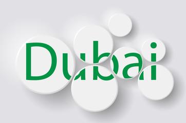 "Word ""Dubai"" in circles"