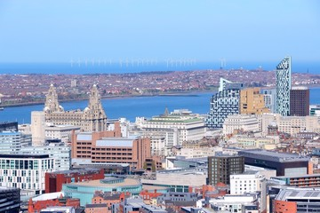 Liverpool aerial view, United Kingdom