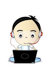 funny boy internet browsing