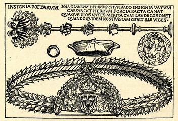 Insignia of the Collegium Poetarum et Mathematicorum, Vienna