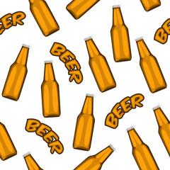 illustration of beer seamless pattern